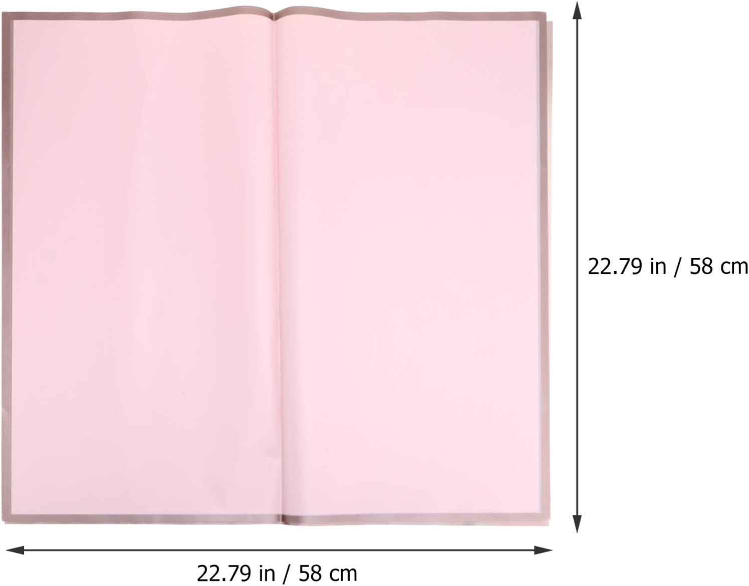 NUOBESTY 20pcs Valentines Day Gift Wrapping Paper Vintage Romantic Waterproof Present Flower Packaging Paper for DIY Craft New Year Wedding Birthday 58X58CM Pink