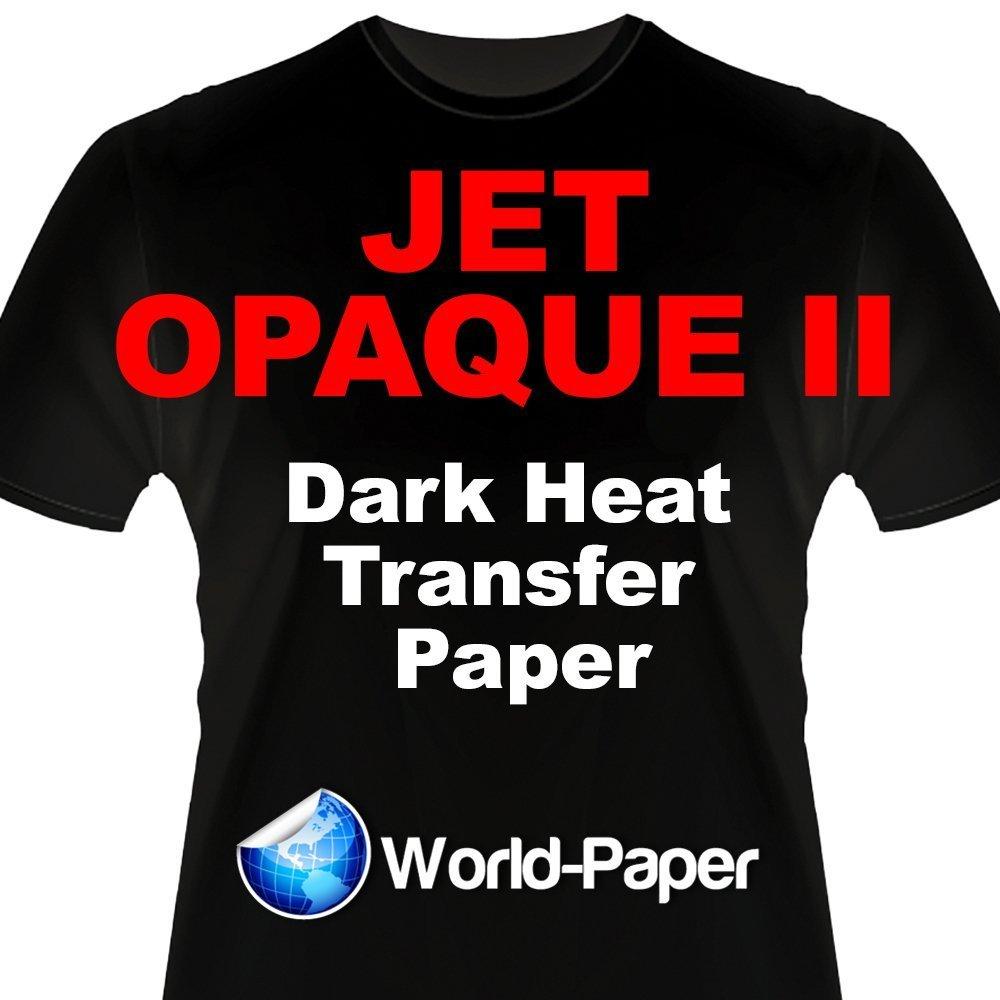 INKJET TRANSFER PAPER FOR DARK FABRIC: NEENAH ''JET OPAQUE II'' (8.5''X11'') 50NKJET TRANSFER PAPER FOR DARK FABRIC: NEENAH ''JET OPAQUE II'' (8.5''X11'') 50Pk :) by JET-OPAQUE® II Neenah Paper