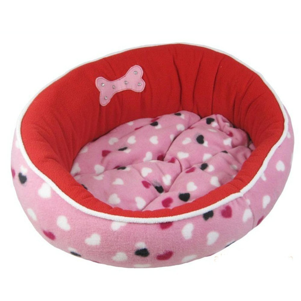 A 52cmWUTOLUO Pet Bolster Dog Bed Comfort Plush Kennel Pet Cushion (color   B, Size   74cm)
