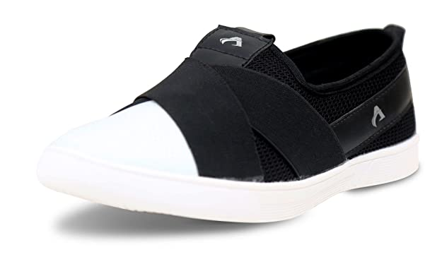 AXONZA Men's Black Canvas Casual Loafer Casual Shoes
