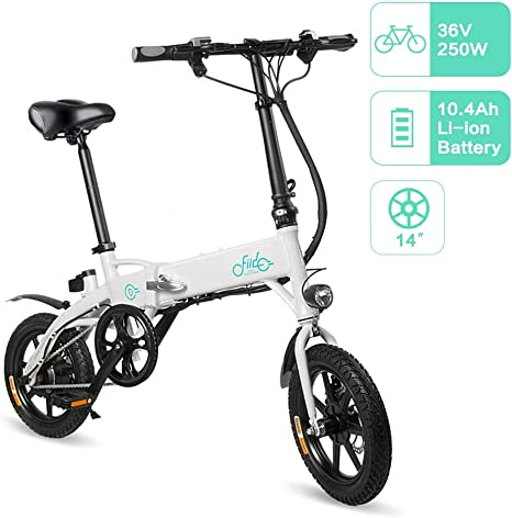 FIIDO D1 Bicicleta Eléctrica Urbana, 250W 7.8Ah/10.4Ah Ebike ...