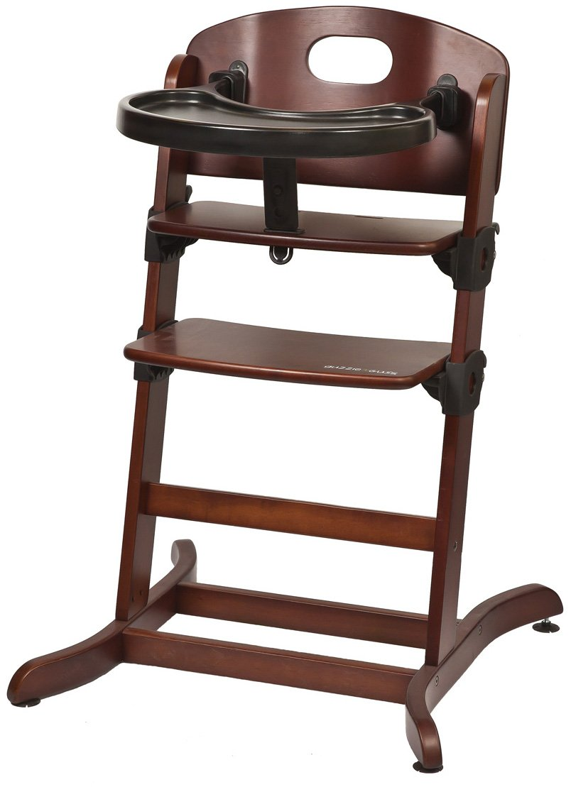 guzzie+Guss Banquet Wooden High Chair, Chocolate G+G212CHOCO
