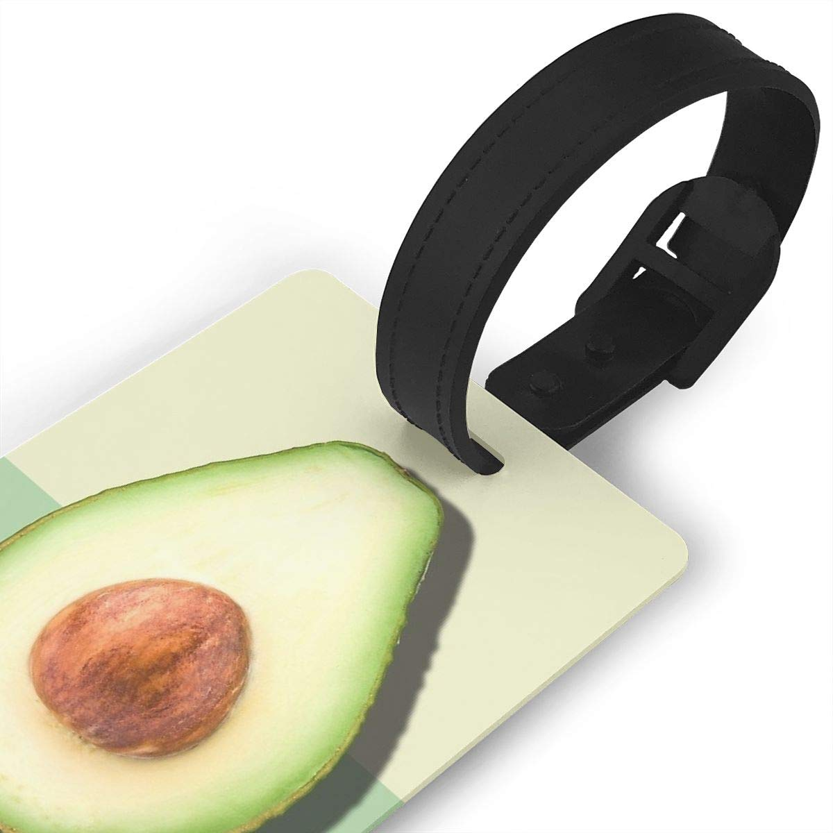 Avocado Half Slice Tropical Fruit Luggage Tags Suitcase Labels Bag Travel Accessories Set of 2
