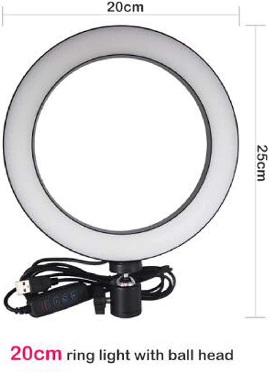 Mini Led Ringlight Camera for YouTube Video Photography,1,B IV-ydzxx 16 Or 20Cm Selfie Ring Light with Tripod and Cell Phone Holder for Live Makeup