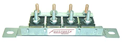 fastronix automotive circuit breaker panel with auto reset (4 30a panel) 12 volt fuse block single pole thermal trip 14v car