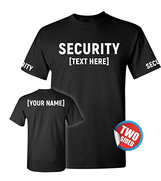 3f55917c Customized Ville Security T Shirts for Men - Guard Gear & Shirt - Event  Staff Clothing