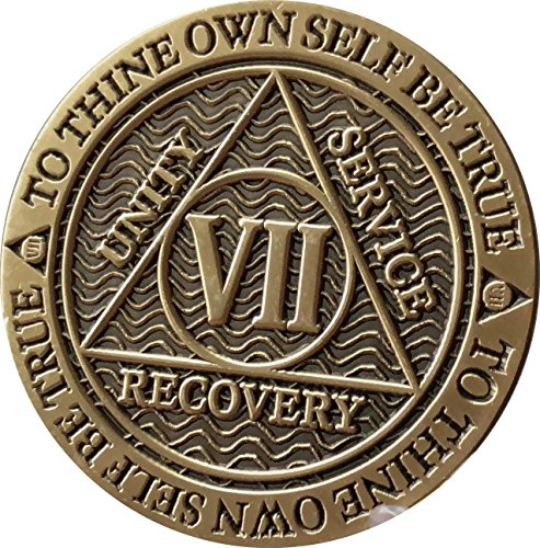 Recoverychip 7 Year AA Medallion Reflex Antique Chocolate Bronze Chip