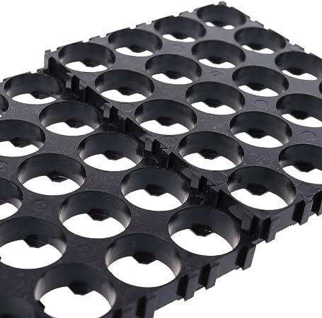 smallJUN 1x 2X 18650 Series Batteriehalter Box Aufbewahrungskoffer Container Mit Bronze Pins SMD Batteriekasten schwarz