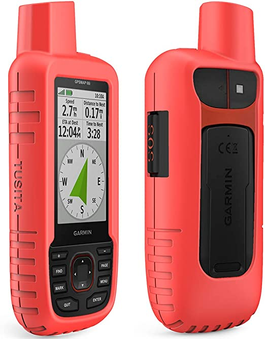 Silicone Protective Cover TUSITA Case for Garmin GPSMAP 86i 86sci Red Handheld GPS Accessories