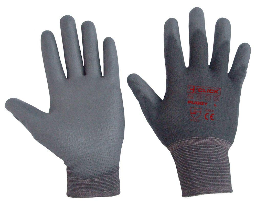 PU Coated Gloves Grey 10 Pack Medium