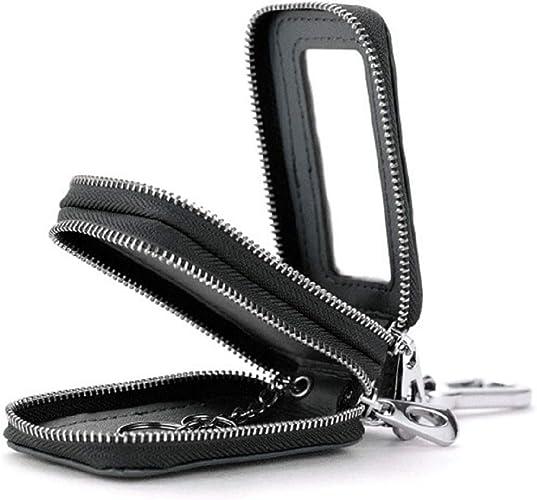 H3E# BULLCAPTAIN Multi-function Key Wallet Men Genuine Leather Car Key Case Bag
