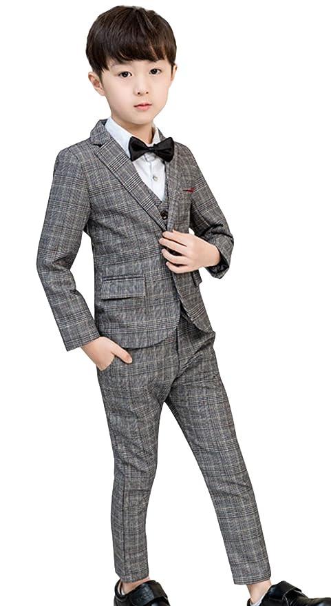 DEMU 5tlg. Chándal de comunión para niño, traje de fiesta, traje ...