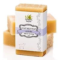Lavender Goat Milk Soap Bars - Great for Dry Sensitive Skin! All Natural Handmade...