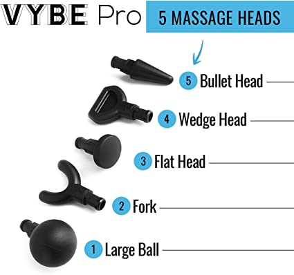 Attachments of Vybe Pro Percussion Massager