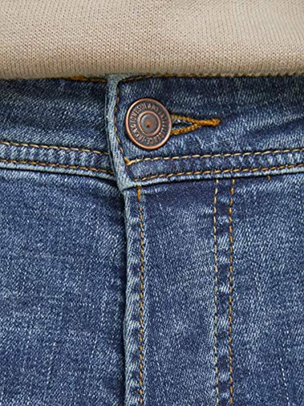 JACK & JONES Męskie dżinsy Comfort Fit Mike ORIGINAL GE 616: Odzież