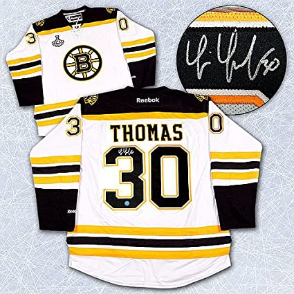 6c999df72 Tim Thomas Boston Bruins Autographed 2011 Stanley Cup Hockey Jersey ...