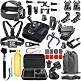 SmilePowo Accessory Kit for GoPro Hero 6 - 5 Black - HERO (2018) - Hero Session - 5 - 4,3 - GoPro Fusion - SJCAN - XIAOMI - AKASO APEMAN DBPOWER - Lightdow - Campark - Sports Action Camera Kit