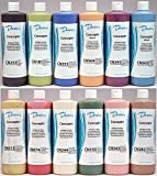 Duncan CNKIT-1 Concepts Underglaze Paint Set, 12 Best Selling Colors in 16 Ounce Pint Bottles with Free How To Paint Ceramics Book