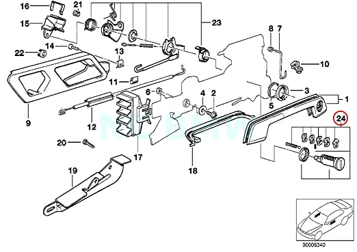 amazon bmw genuine repair kit lock cylinder left automotive 1997 BMW 318I 1989