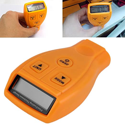 Espesímetro portátil Mini Digital überzogenes Instrumento de grosor con pantalla LCD Inalámbrico Prueba drenaje, la 0 ~ 1.80 mm/0 ~ 71.0mil revestimiento ...