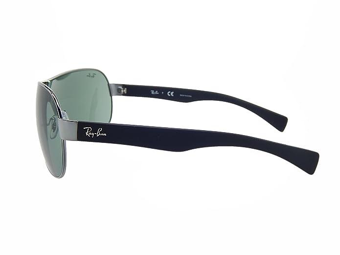 cbc536532e Amazon.com  New Ray Ban RB3471 004 71 Gunmetal Black Green Lens 32mm  Sunglasses  Shoes
