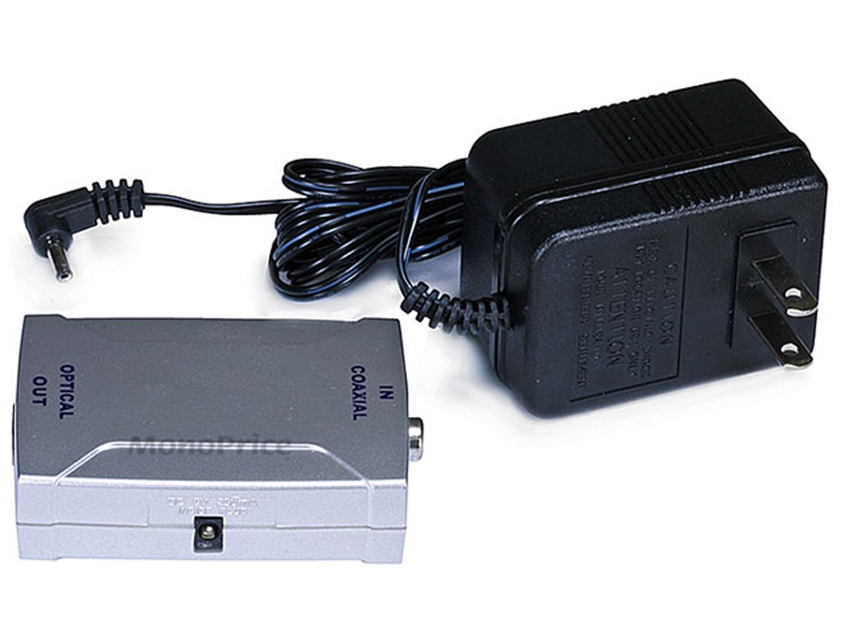 Monoprice Digital Coaxial (RCA) to S/PDIF (Toslink) Digital Optical Audio Converter: Amazon.com: Industrial & Scientific