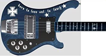 Born to loose Stickers Body Guitar & Bass Pegatinas Decoracion Cuerpo Guitarra (blanco)