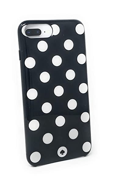 on sale d0157 b9902 kate spade New York Large Polka Dots Protective Rubber Case For iPhone 8  Plus/iPhone 7 Plus/iPhone 6 Plus, Black/Cream