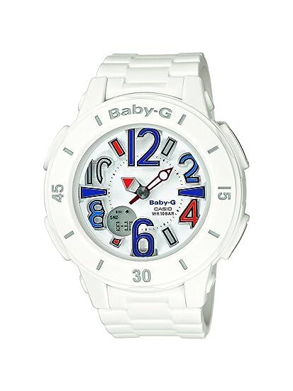 Casio BGA-170-7B2ER - Reloj analógico y Digital de Cuarzo para Mujer con Correa de Resina, Color Blanco: BABY-G: Amazon.es: Relojes