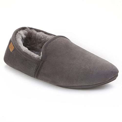 Big Discount Just Sheepskin Garrick Slippers  Granite