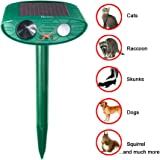 Redeo Outdoor Solar Powered Ultrasonic Animal & Pest Repeller Scare Cat Dog Deer Rabbit Squirrel and Other Unwanted Animals Away