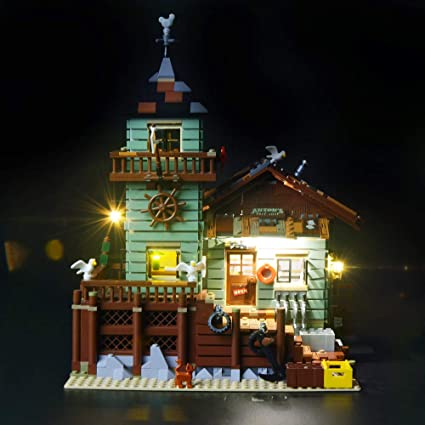 Building Blocks Model NOT Included The Model LIGHTAILING Light Set for Led Light kit Compatible with Lego 21310 Old Fishing Store