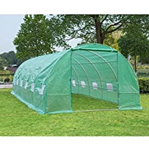 Outsunny 26.2' x10' x 6.7' Large Walk in Tunnel Greenhouse Garden Plant Seed Green House Premium Steel Frame