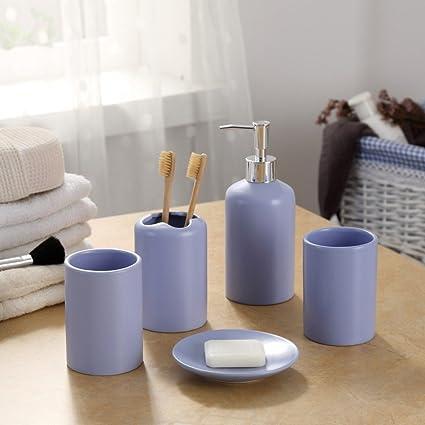 Z Ss Home Ceramica Vasca Da Bagno Set Di Accessori Include Holder