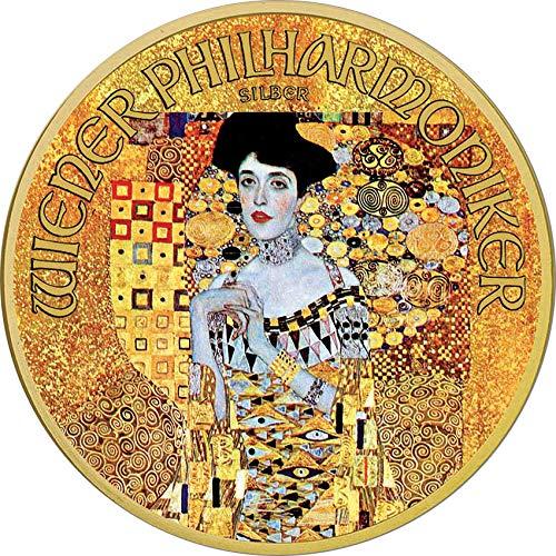2018 AT Klimt Austria PowerCoin ADELE 100th Anniversary Gustav Klimt 1 Oz Silver Coin 1.5€ Austria 2018 BU Brilliant Uncirculated ()