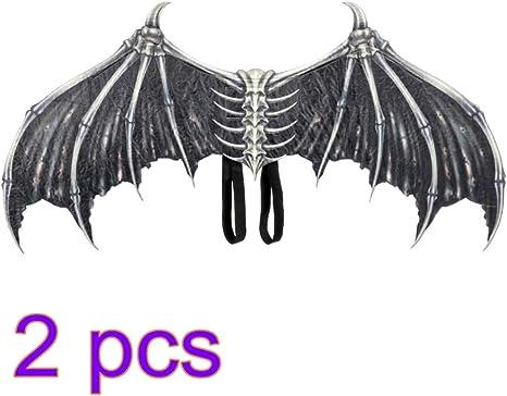 Amosfun 2 Piezas Disfraz de Diablo de ala de Halloween alas de ...