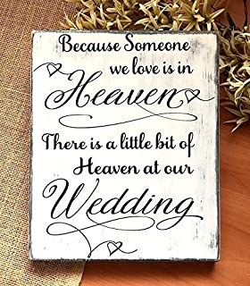 Amazon com: Wood Plaque In Loving Memory Gift, When a