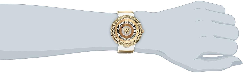Amazon.com: Versace Womens VLC040014 V-METAL ICON Analog Display Swiss Quartz White Watch: Watches