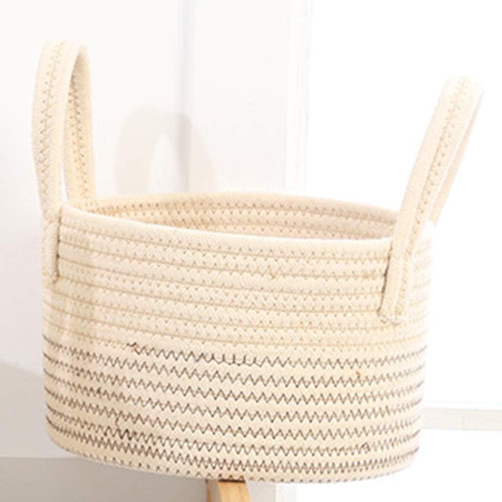 Abcidubxc Corbeille à linge en coton tissé avec panier de rangement 1 2