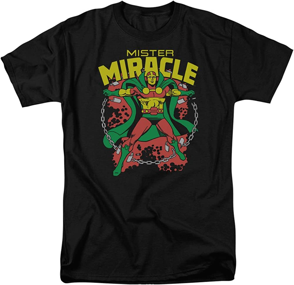 Mister Miracle T-Shirt - Superhero Adult Black Tee Shirt