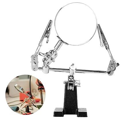 Lupa para JoyeríA, Lupa Rotativa 5X Lupa para Accesorios De JoyeríA con 2 Abrazaderas Que