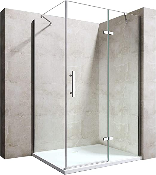 durovin baño RAVENNA 28 sin marco Bisagra pivotante mampara de baño claro Lujo de Cristal moderno