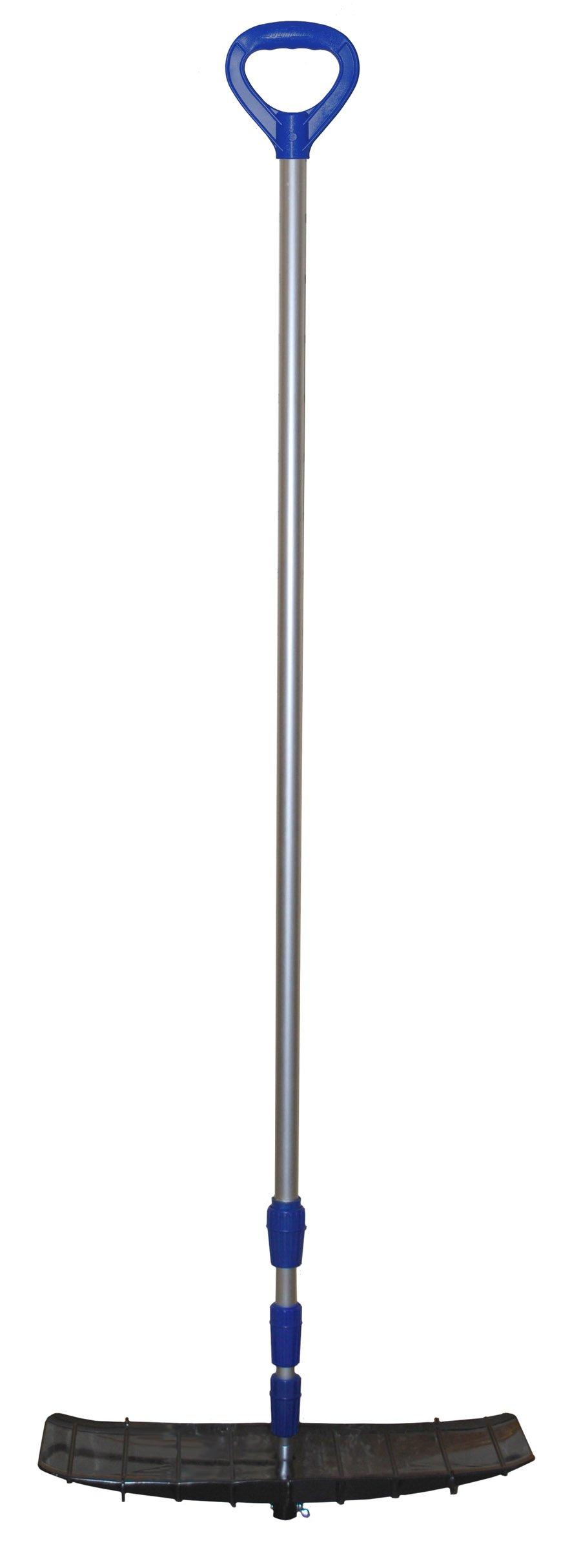 Bigfoot 21' Flip & Strip Poly Roof Rake - Telescoping Handle - Shingle Ski by Emsco Group