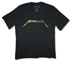 Metallica Rusty Logo Raw Edge Girls Juniors Black T Shirt