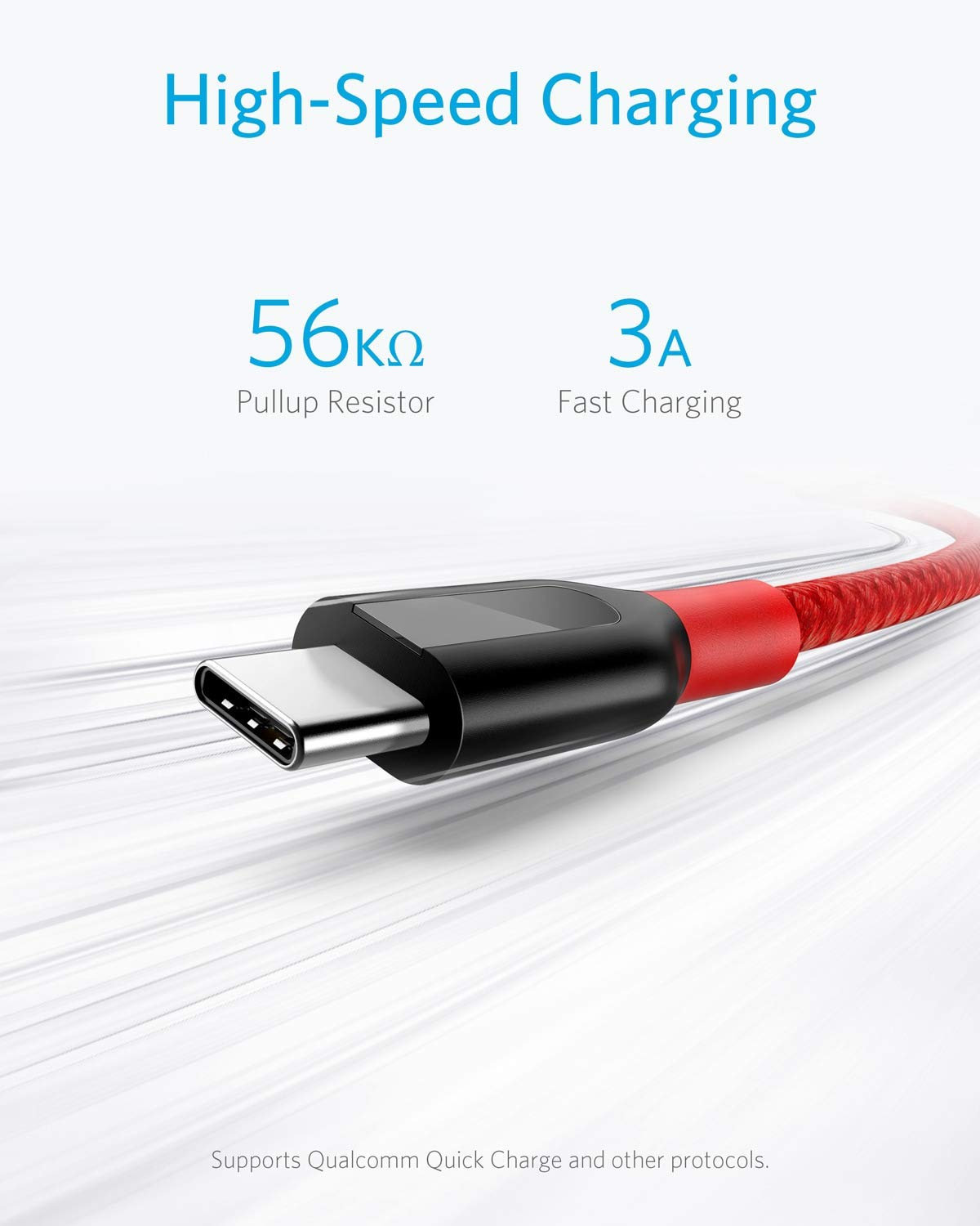 MacBook and More Double-Braided Nylon Fast Charging Cable iPad Pro 2018 Anker USB Type C Cable Powerline+ USB-C to USB-A 3-Pack for Samsung Galaxy S10// S9 // S9+ // S8 Red 3ft+6ft+10ft