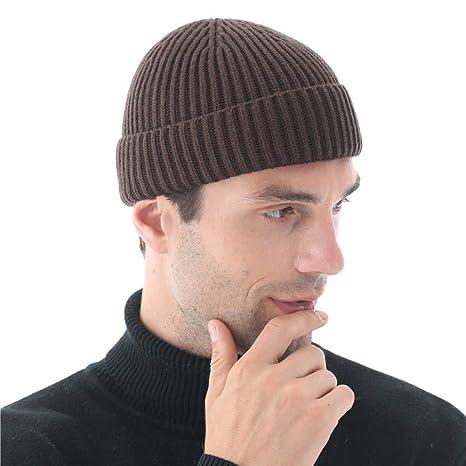 XJDMG Sombrero de Punto Wool Hat Gorra Gorros De Invierno para ...