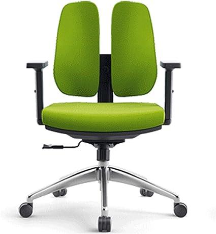 Flexible Backrest Office Chair Armrest Ergonomic Office Swivel Chair Independent Movable And Adjustable Backrest Swivel Chair For Reclining 125 Desk Chair Green Amazon De Kuche Haushalt