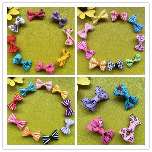 Dogs Kingdom 30/50/80/100Pcs Mix Colors Varies Patterns Small Bowknot Pet Grooming Products Pet Hair Bows Dog Accessories Dog Hair Clips