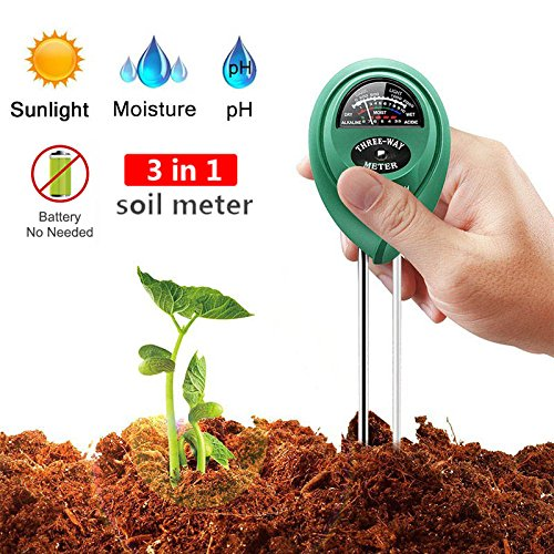 Soil pH Meter,Soil Tester,3-in-1 Moisture Sensor Meter,Sunlight,pH Soil Test Kits For Garden Farm,Lawn,Home Indoor and Outdoor