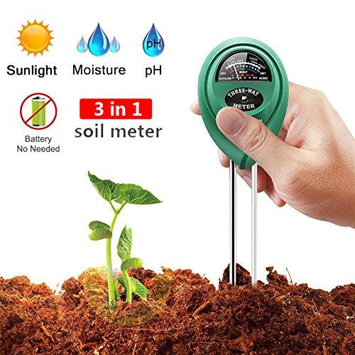 pH wert Tester Boden Rasen Boden Feuchtigkeit Meter f/ür Garten rund Bauernhof KINGLAKE 3-in-1 Bodentester Bodenmessger/ät f/ür Pflanzen Batterien Nicht ben/ötigt